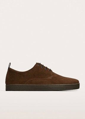 ZARA MENS BROWN SUEDE LACE UP CASUAL SHOES Size 7