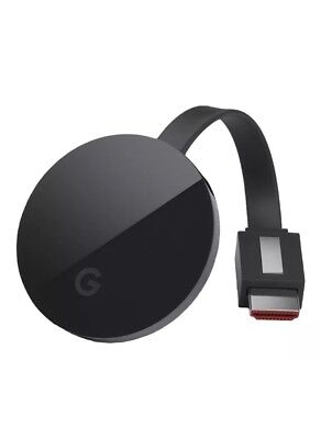 Google Chromecast Ultra Media Streamer 4K Black NEW SEALED