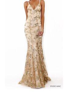 906f601dbba Studio Minc Gold Jadore Dress