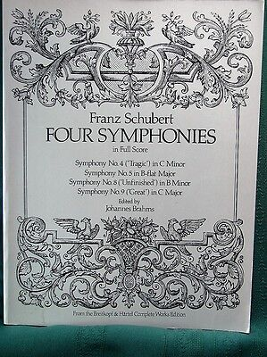 Four Symphonies in Full Score by Franz Schubert - Study Score Sheet Music - Full Score Sheet Music