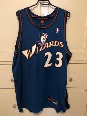 4b78e3111 AUTHENTIC Nike 2001 Wizards Michael Jordan Away Jersey 52