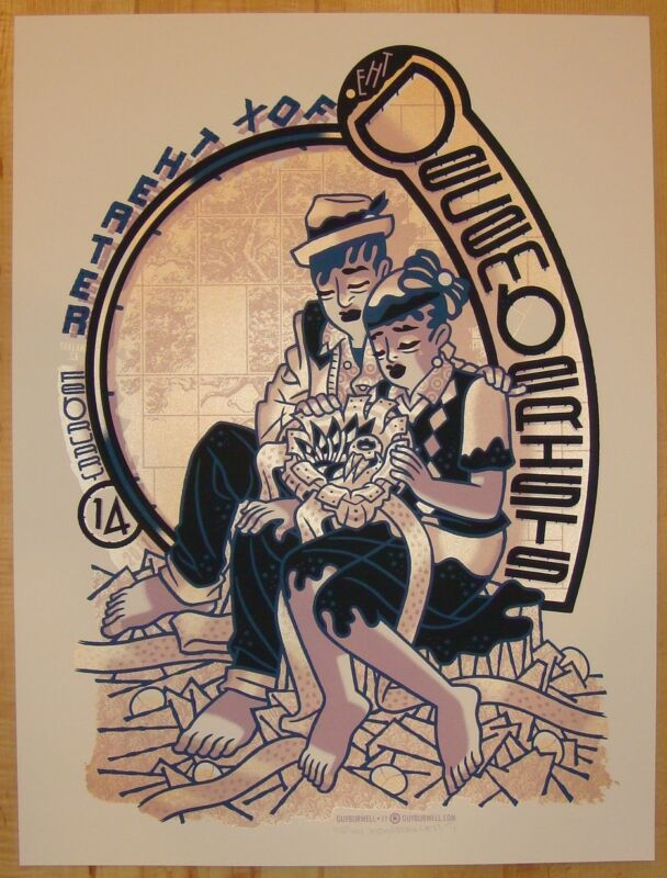 2011 The Decemberists - Oakland Silkscreen Concert Poster by Guy Burwell s/n