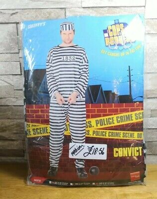 FANCY DRESS COSTUME COPS N ROBBERS CONVICT SIZE MEDIUM BRAND NEW IN - Cops N Robbers Costumes