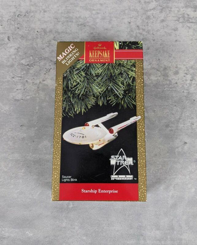 Starship Enterprise 1991 Star Trek Hallmark Keepsake Christmas Ornament 25th