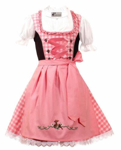 Girls,Kids,US sz 11, Germany,German,Trachten,Oktoberfest,Dirndl Dress,3-pc.Pink