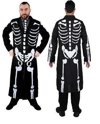 Jack Skelett Kostüm (TAG DER TOTEN KOSTÜM SEÑOR SKELETT FRACK JACKE KNOCHEN KARNEVAL FASCHING PARTY)