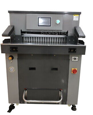 670mm 26.3 Hydraulic Paper Guillotine Cutter Programmable Stack Cutting Machine
