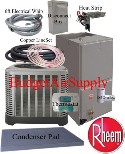 """Rheem/ruud""""classic"""" 5 Ton 14 Seer Heat Pump Rp1460aj+rh1t6024st+50ft Install Kit"""
