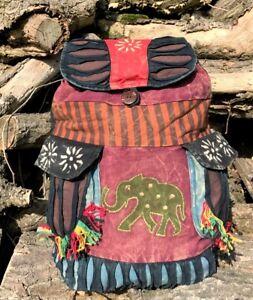 INDIE BOHO HIPPY BACKPACK BAG HIPPIE BEACH ELEPHANT SHOULDER FESTIVAL RUCKSACK