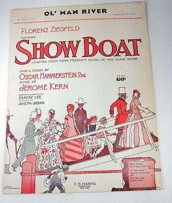 SHOW BOAT - SHEET MUSIC - Copyright 1927