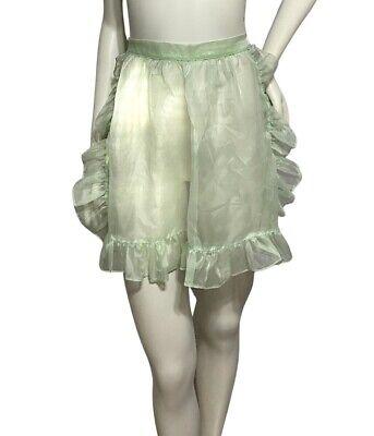 Vintage Aprons, Retro Aprons, Old Fashioned Aprons & Patterns Vintage Sheer Light Green Apron $15.00 AT vintagedancer.com