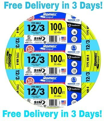 123 Wground Romex Indoor Electrical Wire 100 Feet All Lengths Available