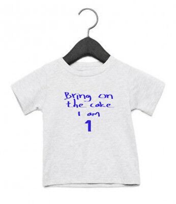 1 Today 1. Erster Geburtstag Kinder T-Shirt Kuchen Schlag Jungen Mädchen ()