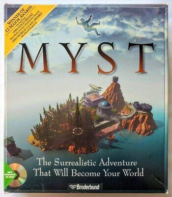 Myst Big Box Windows 3.1 PC & Mac PC CD-ROM with Original Box and Manuals