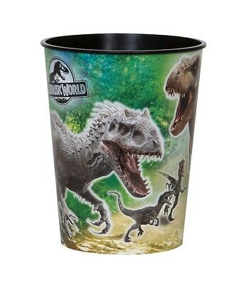 JURASSIC WORLD - 1 Plastic CUP 16oz - Birthday Party Tableware (Dinosaurs/Park)