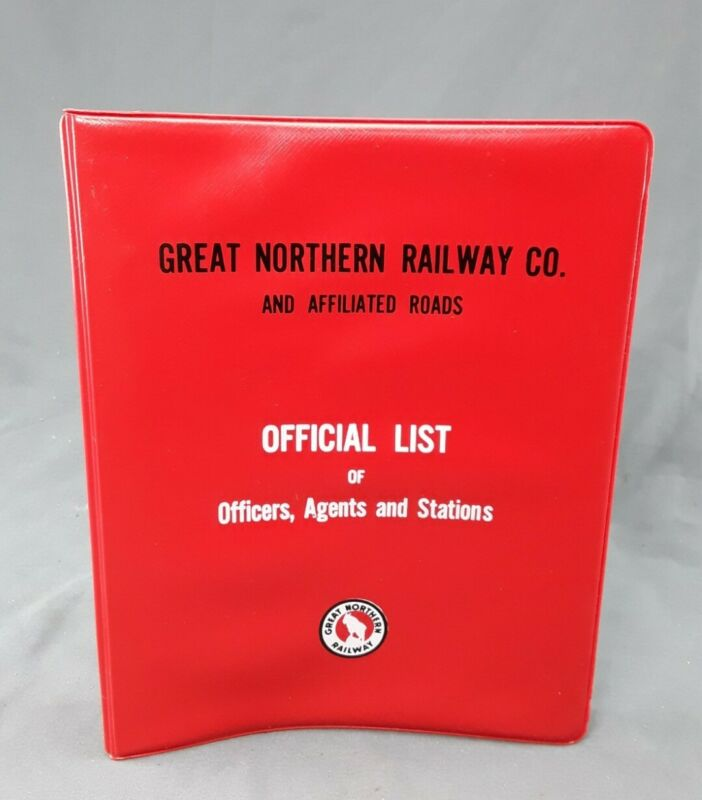 "Great Northern Railroad System Official List Binder ~ empty 9 x 7""  6-ring"