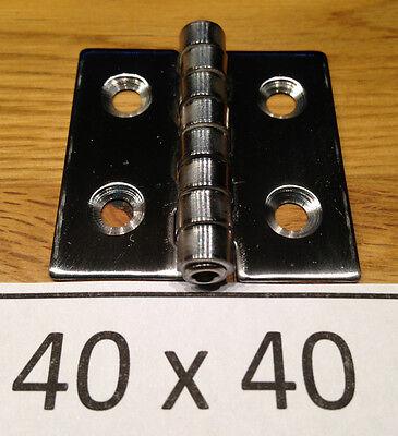 ( 4 Stück ) 40x40mm Edelstahl Scharnier Rostfrei Nirosta A2  40 x 40 mm