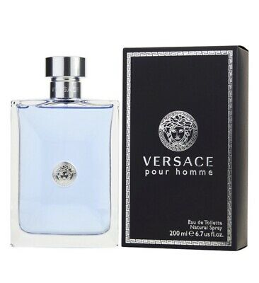 VERSACE POUR HOMME EAU DE TOILETTE 200ML SPRAY - MENS FOR HIM - BRAND NEW SEALED