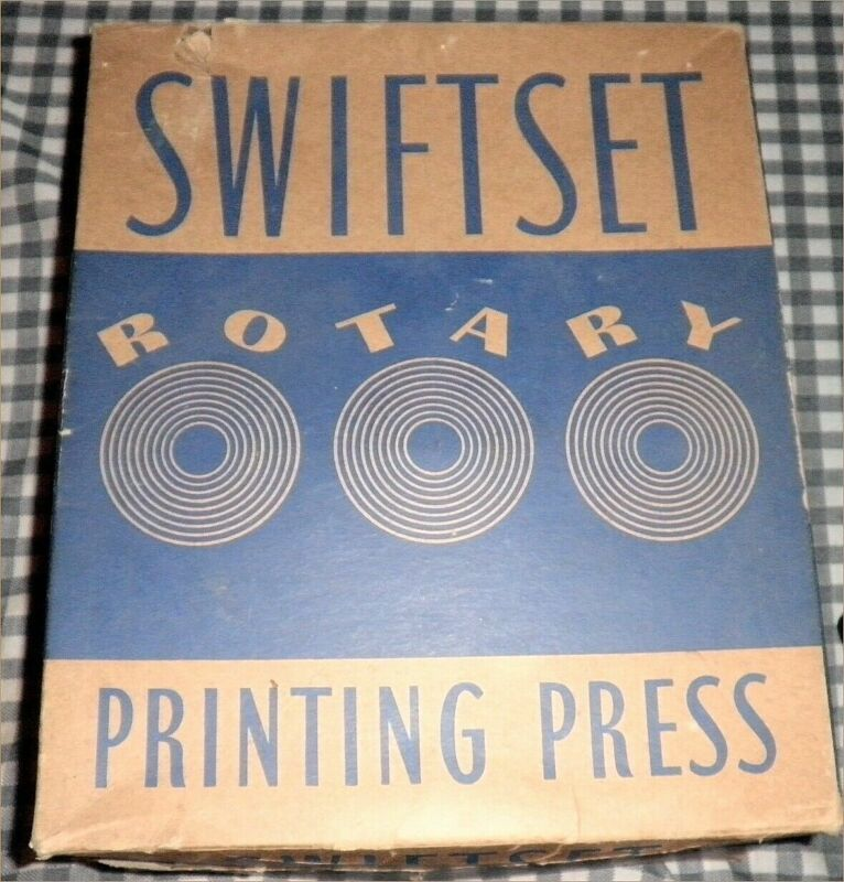 Vintage SWIFTSET Rotary Printing Press No. 8502 Instructions and Original Box