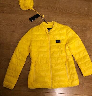 KARL LAGERFELD Genuine Woman Yellow down jacket size M Medium BNWT