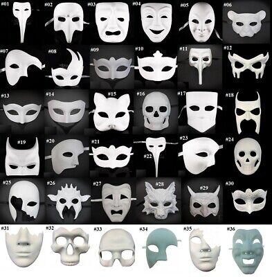 Diy Masque Halloween (DIY Unpainted Mardi Gras Venetian White Blank Halloween Costume Masquerade)