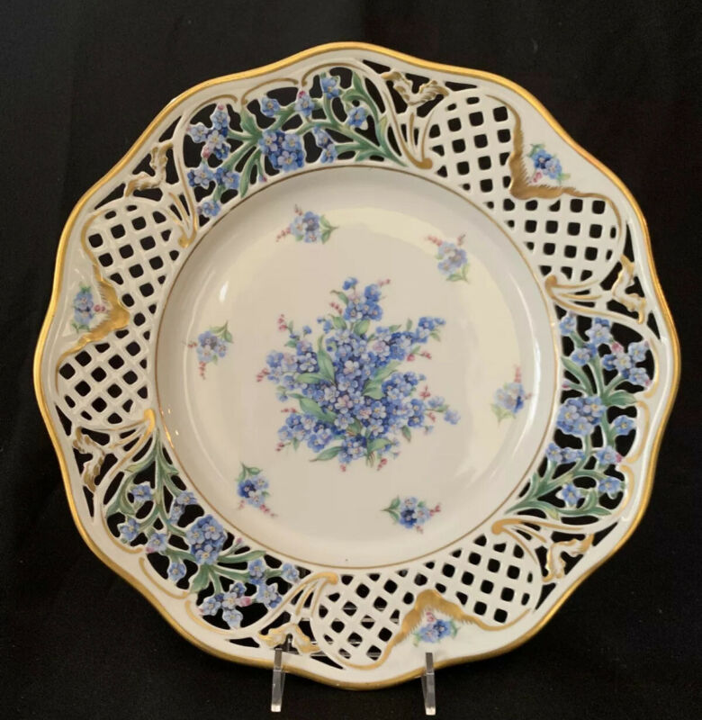 Schumann Forget-Me-Not Reticulated Pierced Dinner Plate