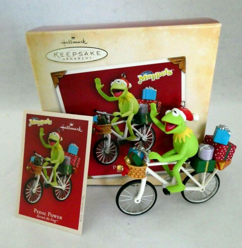 Hallmark Muppets Keepsake Ornament ~ Kermit the Frog Pedal Power Bicycle ~ 2004