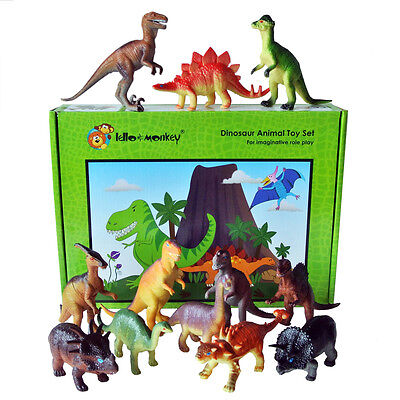 Dinosaur Dinosaurs plastic toy animal figures, T-Rex set of 12 Large boxed, ebay