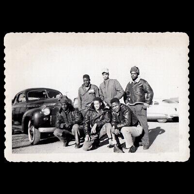 SEGREGATED BADASS BLACK ARMY MEN BOMBER JACKET HEROES ~ 1940s VINTAGE PHOTO