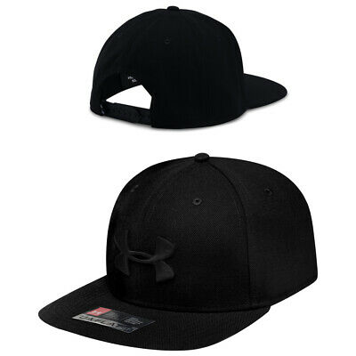 Under Armour Mens Huddle Snapback Cap Hat Black 1293407 001