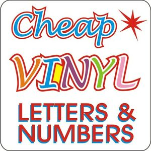 shop signs stick on vinyl self adhesive letters numbers ebay With vinyl stick on letters for signs