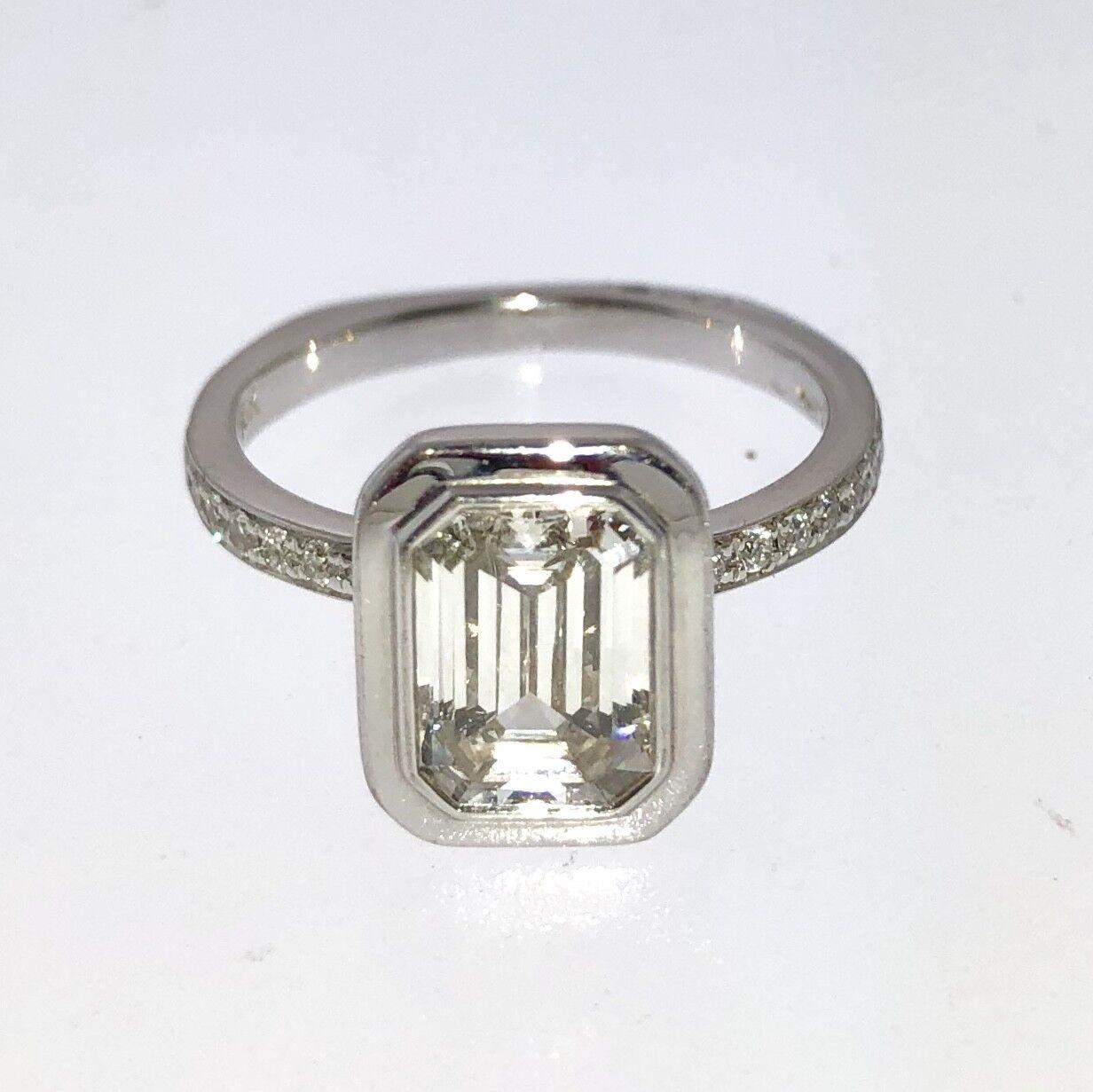 EC 1.48c VS-2 H Gia Diamond In a A.Jaffe Designer Engagement Ring