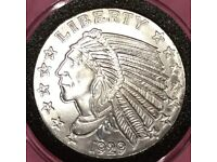 1982 Indian Chief Pocatello Idaho Silver 1 Oz .999 Silver Proof Round