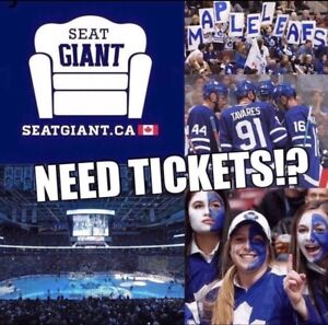 TORONTO MAPLE LEAFS TICKETS TONIGHT FROM $80 CAD!