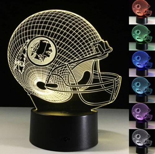 NFL Washington Redskins LED Light Lamp Collectible Alex Smit