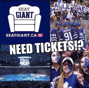 TORONTO MAPLE LEAFS TICKETS TONIGHT FROM $105 CAD!!