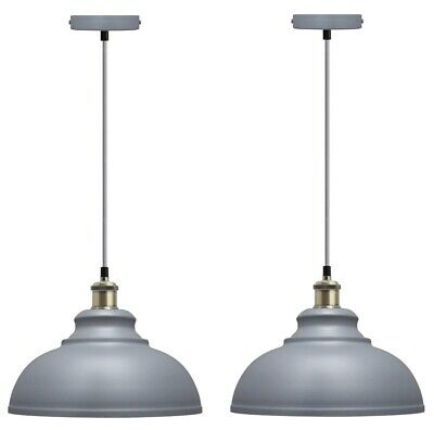 2 x Vintage Industrial Metal Ceiling Pendant Shade Modern Hanging Light M0089