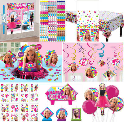 Girl Birthday Supplies (Barbie Sparkle Girls Birthday Party Supplies Decoration Favors Tableware)