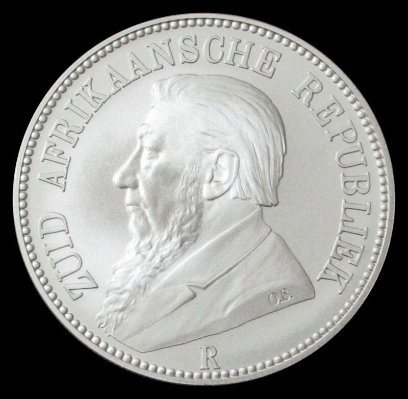 2006 SILVER SOUTH AFRICA RE-ISSUED 1892 5 SHILLINGS 1 OZ COIN IN CAPSULE