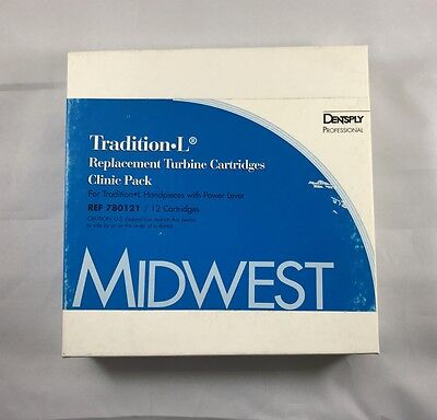 Midwest Dentsply Dental Tradition-l Power Lever Replacement Turbine 12 Pk