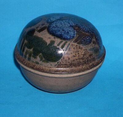 Diana Worthy Crich Studio Pottery - Attractive Globular Lidded Pot - M.Mark.