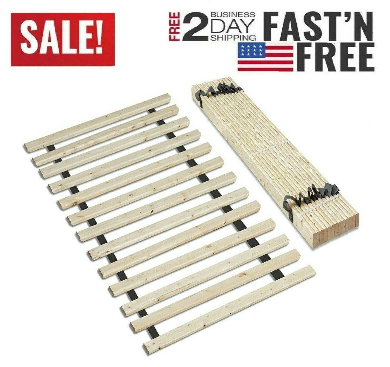 Bed Frame Platform Wood Slats Size Headboard Upholstered Woo