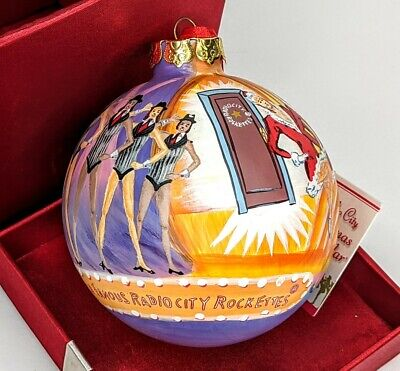 Radio City Rockettes Christmas Spectacular RARE handpainted LARGE ornament w/box