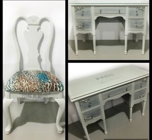 Desk/Vanity with matching Chair