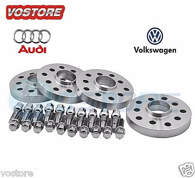 (4) 12mm&15mm Hubcentric Wheel Spacers Adapters 5x100 /5x112 for Volkswagen Audi