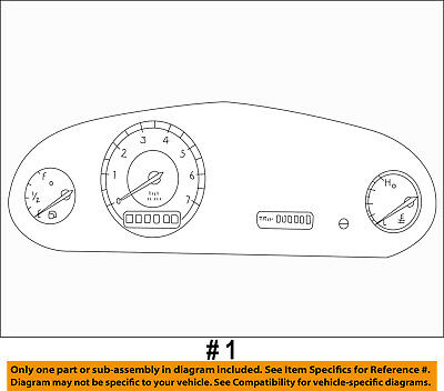 CHRYSLER OEM 99-04 300M-Instrument Panel Dash Gauge Cluster 5026412AE