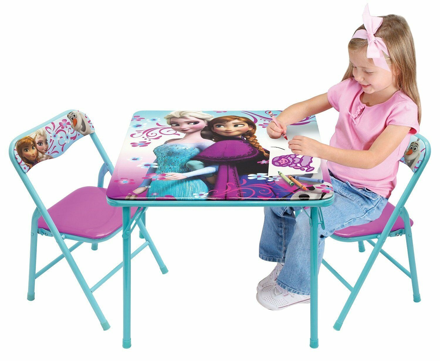 Childrens Folding Table And Chairs Disney Princess Kids Activity