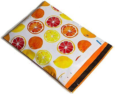 200 10x13 Yellow Orange Citrus Designer Mailers Poly Shipping Envelopes Bags