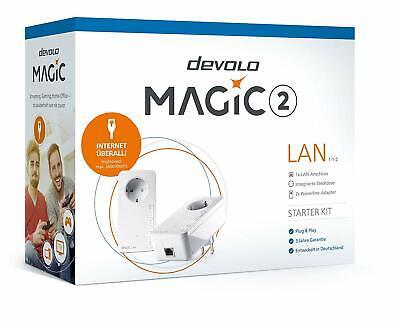 DEVOLO MAGIC 2 LAN STARTER KIT1-1-2 mit 2400 Mbit/s, Powerline, 2x Adapter