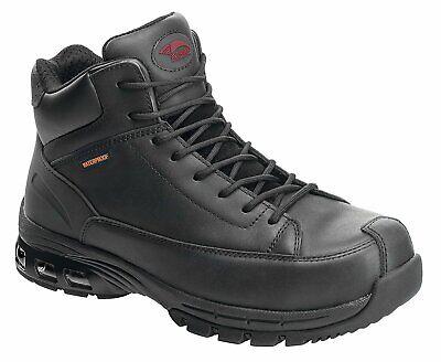 Avenger Mens Composite Toe Waterproof EH Hiker M Black Leather Boots M 9.5 Toe Eh Hiker Boot